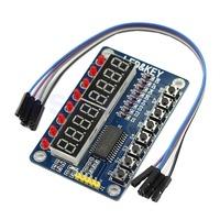 J34 Free Shipping 1pc 8-Bit Digital LED Tube 8-Bit TM1638 Key Display Module For Arduino AVR New