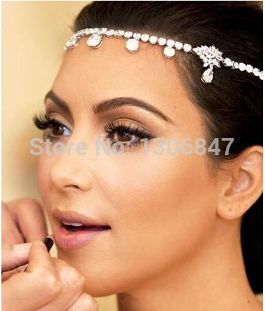 1pc Fashion Romantic Wedding Bride Accessories Hair Jewelry Headbands(B076)(China (Mainland))