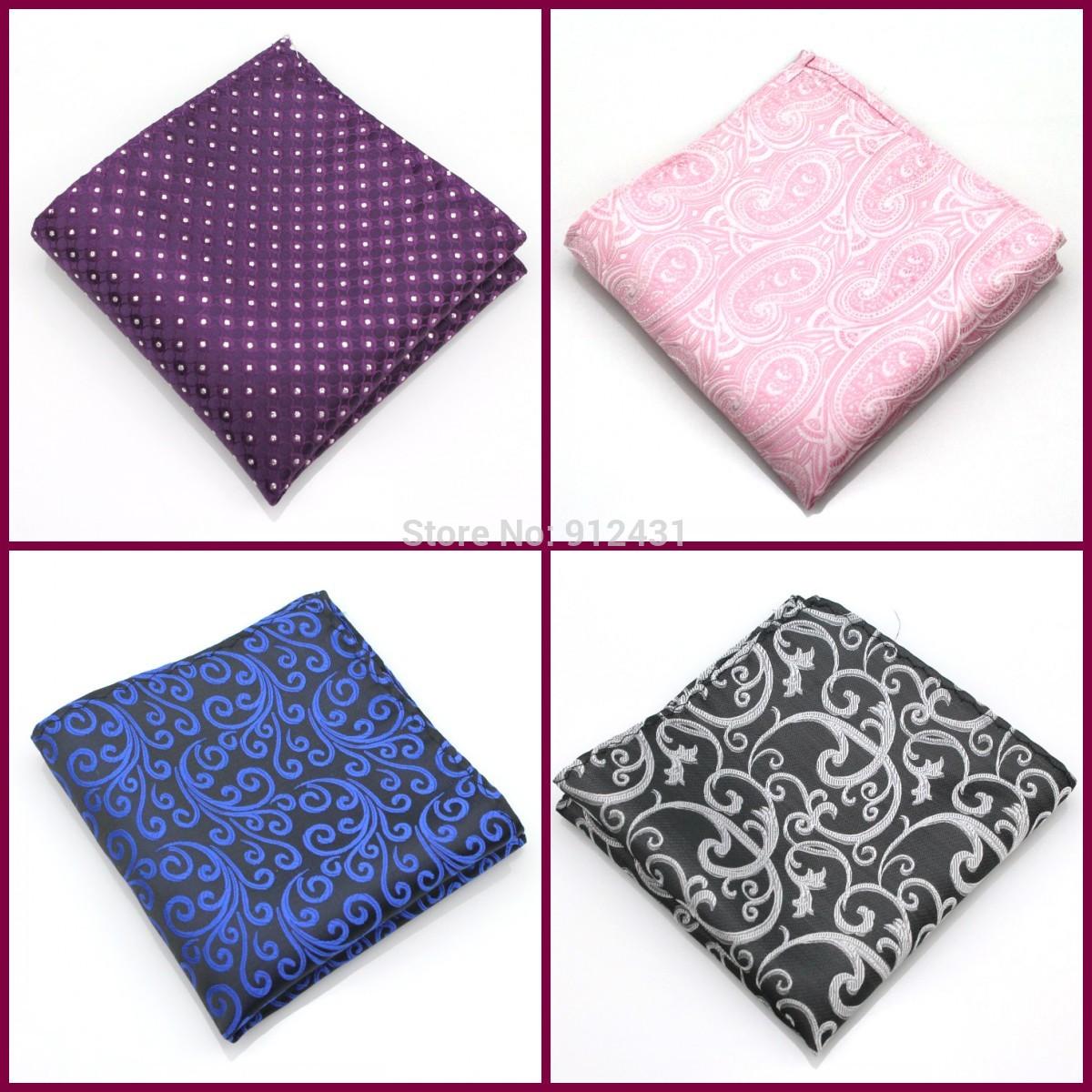 50 colors available! Wholesale fashion design polyester men pocket squares handkerchief men hanky free shipping 30pcs #0547(China (Mainland))