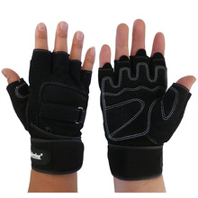 2014 New Best Seller Fitness Body-Building Glove Wrist Protect Anti-skid Weightlift Workout Exercise Glove Free Shipping