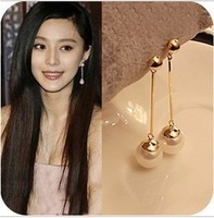 Retail hot Sales Jewelry 2014 new fashion earrings Pearl earring exaggerated long section for women gift ER-039