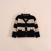 New 2014 Autumn baby &kids clothing boys Boutique striped cardigan sweater Children Kids stripe cardigan 5pcs/lot