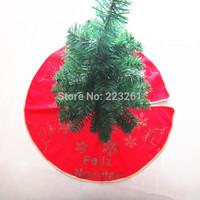2014 Christmas tree skirt  non-woven fabrics christmas tree mat 80cm Christmas decoration supplies Feliz Navidad