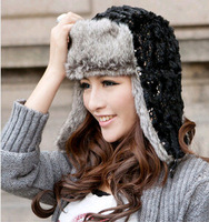 chic Super Soft Wool Trapper Aviator Hat with Fur, Trapper Ski Heavy Wool Fleeced Lined Cap