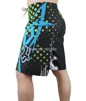 FOX mens board shorts beach short boardshorts surfshorts beachwear swim trucks male bermuda green black size 30 32 34 36 38