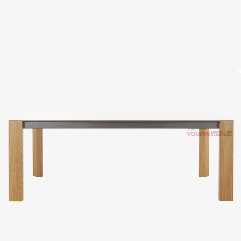 Modern minimalist dining table glass surface wood finishes  : Modern minimalist dining table glass surface wood finishes can be customized marble tripod new fashion designer from www.aliexpress.com size 800 x 800 jpeg 73kB