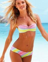 2014 NEW Fashion swimwear Brand Bra Woman Sexy print bikinis set PAD Swimsuits Sport Fringe Top Swimwear Beachwear!@00030