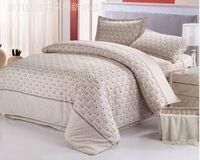 2014 new beige ck printed adult king size bedding sets