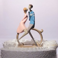 "Free Shipping Wedding Favor ""Romantic Moment"" Wedding Cake Topper Classic Couple"