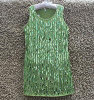 2014 Summer New Arrival Fashion girls dresses handmade Lace Green sequins sundress 6T-12T 3PCS/LOT
