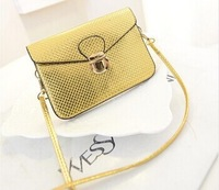 Summer 2014 Exquisite Fashion Metal Hasp Mini Clutch Bag Women Shoulder Bag