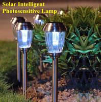 Intelligent Solar Photosensitive LED Garden Lights Waterproof Solar Lawn Path Lighting Lamp Villa Garden lights