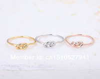 Infinity Knot Ring-fashion Heart knot rings,pinky jewelry rings,unique rings for women color gold/silver/rose gold