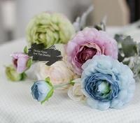 Wholesale High Quality Artificial Silk Ranunculus for Bridal bouquet, wedding flowers, centerpieces, decorative flowers