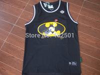 Free Shipping Kiss Funk Jordan Jerseys 2014 New Style Batman Flight MAN Michael Jordan Black New Rev 30 Basketball Jersey