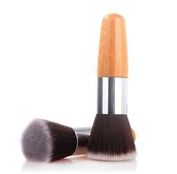 Manufacturers wholesale!Natural bamboo handle single universal flat brush, carbonized bamboo professional makeup brush