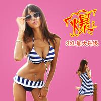 Navy Stripe Yarn Steel Split Skirt Bikini Set Women's Swimsuit  Push Up Bikini swimwear  Lady Bikinis Bathing Suit Plus Size