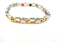 2014 New Hot Wholesale Luxury Gold Magnetic Stainless Steel Chain Bracelet For Women Fashion Jewelry SS006B