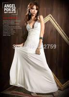 Women's club sexy goddess breast a stone cross long dress suspender  dress