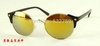 Free shipping sunglasses retro round sunglasses
