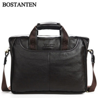 100% Genuine Leather Cow Leather Men's Briefcases Men Messenger Bags Large Size High Quality Cheapest Price Business Bag M217