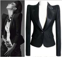 Celeb Peaked Shoulder Tuxedo Lady Blazer Suit Jacket