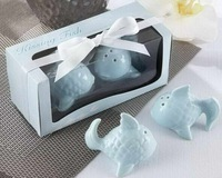 Wedding Favors Two Lovely Fishes Salt&Pepper Shakers+240pcs=120sets/lot+FREE SHIPPING