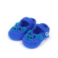 2014 Newborn Baby Boy Girl Crochet Shoes Infant Winter Crib Shoes Footwear Handmade Knitting Shoes Cartoon Piggy(3 paris/lot)