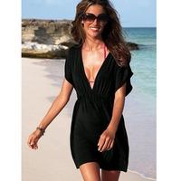 12 COLORS Free shipping 2014 Wholesale Women'S Elastic Ice Rayon  Material Beachwear Beach Dress, Bikini Blouse Outside