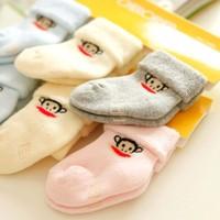 baby socks newborn socks 3pairs/lot MOnkey socks warm winter socks