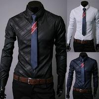 2014 men's fashion shirt men shirts Autumn Spring men's shirt long-sleeved Casual Shirts men 3 color plus size 3XL