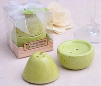 "NEW ARRIVAL ""The Perfect Pair"" Ceramic Salt and Pepper Shaker+100pcs=50sets/lot+FREE SHIPPING"