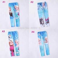 FREE FAST WAY Frozen Elsa Anna girls children leggings long pants trousers 4 designs 6pcs/lot