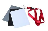 10PCS 3 in1 Digital Grey White Black 18% Gray Color White Balance Exposure Card +Strap 8.5cm*5.4cm size