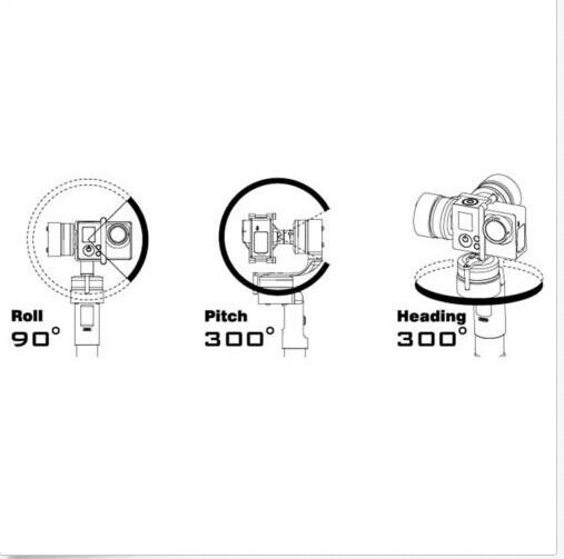 Feiyu G3 Ultra 3 axis Steadycam Handheld Gimbal Gopro