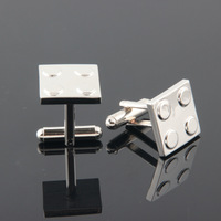 Free Shipping New 2014 Fashion Men's Wedding Party Gifts Square Sliver Cuff Links Business Casual Suits Shirts Cufflinks C201