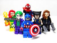 DHL Fedex Wholesale Decool 360pcs Super Heroes Avengers Wolverine Phoenix Black Widow Joker Spider Man action figures Blocks toy
