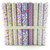 "Cotton Fabric  9 Designs Mixed ""Pretty Purple Floral"" Fat Quarter Bundle Tilda Quilting scrapbooking Patchwork 50CMx50CM W3B5-5"
