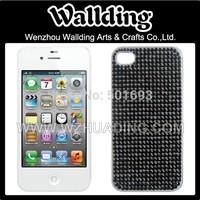 Free shipping ! black color Bling acrylic rhinestone gemstone sticker for iphone 4