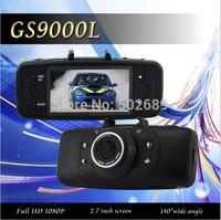 In Stock Car DVR GS9000L/GS9000 NOVATEK Chipset 1080P 2.7'LCD 140 Degree Lens Car Vehicle Black Box Camera Recorder DVR G-Sensor