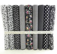 """Classic Black"" Fat Quarter Bundle Cotton Fabric Tilda Quilting scrapbooking Patchwork 9 Designs Assorted 50CMx50CM/Piece W3B5-6"