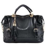 2014 Casual women leather handbags, leather promotional serpentine Women's Messenger Bags, fashion shoulder bag wholesale