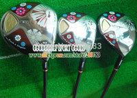New women Golf Clubs maruman FL Golf wood set  driver loft 11.5 3/5Woods.L shaft,With wood headcovers EMS Free Shipping