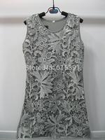 2014 Summer New Arrival Fashion girls dresses Handmade Lace Hollow  flower 3colors sundress  6T-12T 4PCS/LOT
