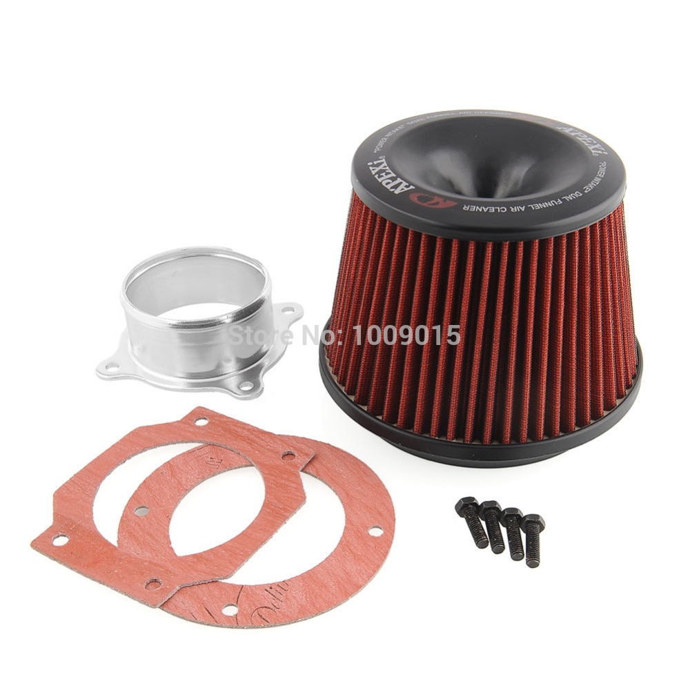 Apexi Universal Kits Auto Intake Air Filter 75mm Dual Funnel Adapter Useful New Free Shipping(China (Mainland))