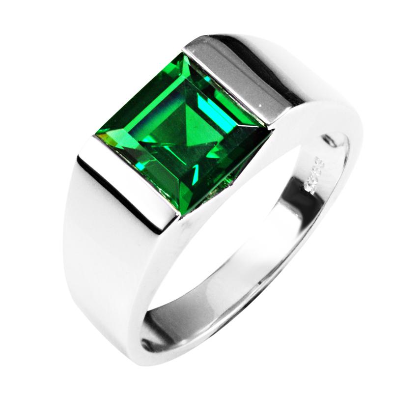 Emerald Rings For Men Nano Emerald Wedding Ring