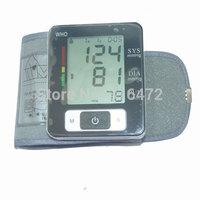 100PCS/LOT Health care Automatic Digital Wrist Blood Pressure and Pulse Monitor Sphygmomanometer Blood Pressure Monitor