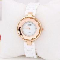 Watches Women Luxury Brand, Japan Movement Fashion Ceramic Charm Stylish Rhinestone Sliver Wristwatch for Ladies, Free Shipping