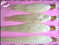 IS Beauty hair bleach Blonde color 613 Virgin peruvianHair Extensions silk straight 3pcs 4pcs/lot Hair weavings Free shipping
