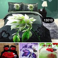 3d oil Animal / Plant bed set,cotton painting bedding sets bedclothes king queen bed linens Duvet cover sets bed set#H18-2